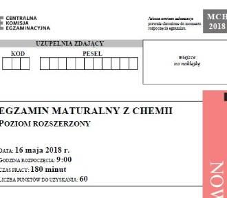 Matura 2018 chemia poziom rozszerzony  [arkusze CKE, odpowiedzi]