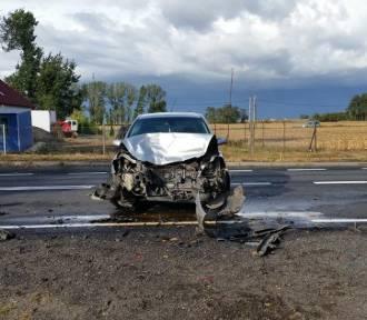 Zderzenie dwóch samochodów osobowych w miejscowości Spławie [ZDJĘCIA]