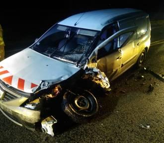 W Miradowie zderzyły się dwa samochody. Jedna osoba ranna