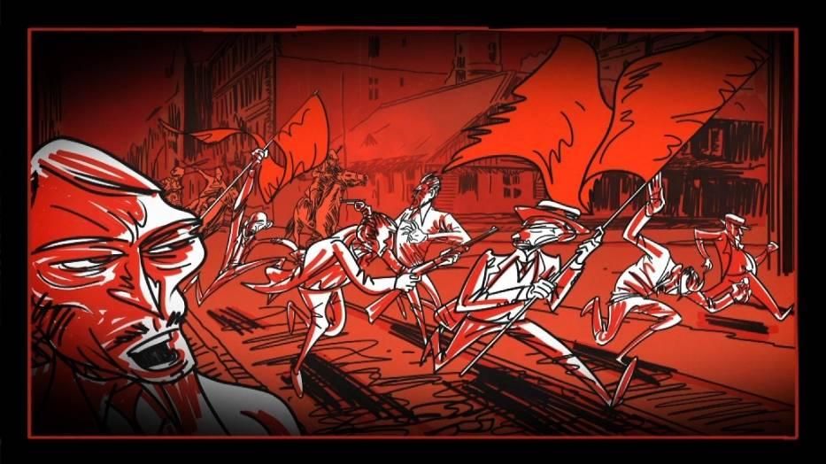 Element komiksowy w filmie /Rewolucja 1905 r