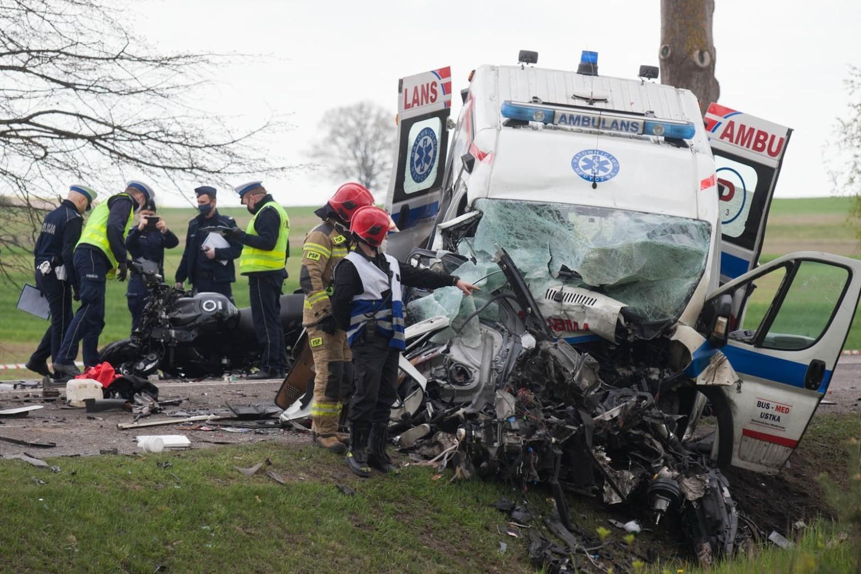 Wypadek na trasie Słupsk - Ustka w pobliżu miejscowości Bydlino