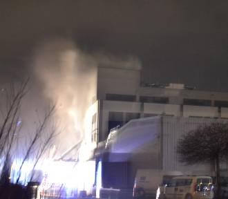 Pożar w biurowcu firmy AIUT w Gliwicach
