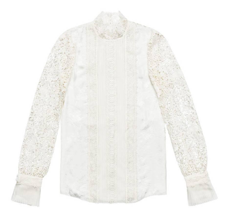 Biała bluzka Erdem x H&M 499 zł
