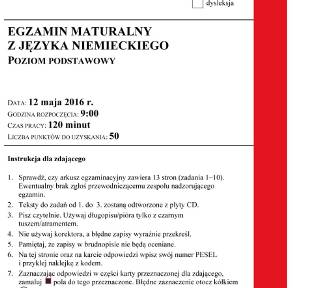 Matura 2016: niemiecki podstawowy [Arkusze PDF, klucz ODPOWIEDZI]