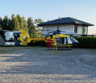 W Katowicach starszy mężczyzna spadł z dachu. Na miejscu lądował śmigłowiec LPR