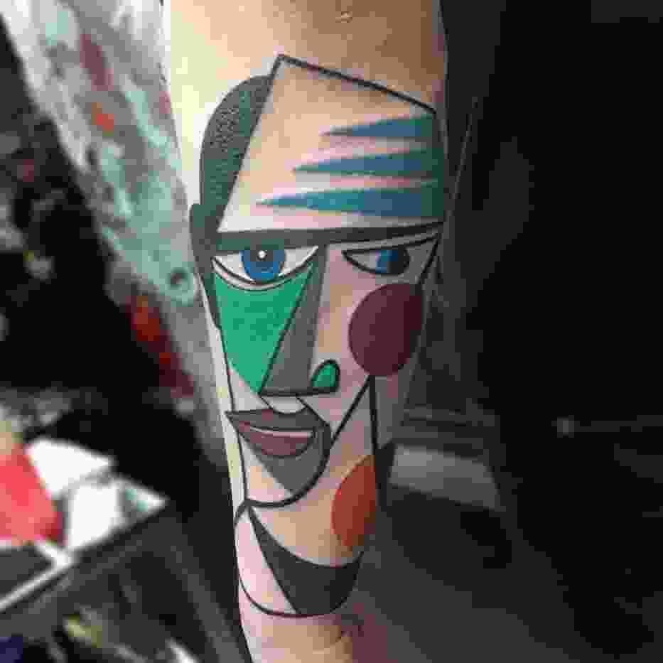 Niezwykłe kubistyczne tatuaże. To coś więcej, niż zwykłe dziary [GALERIA]