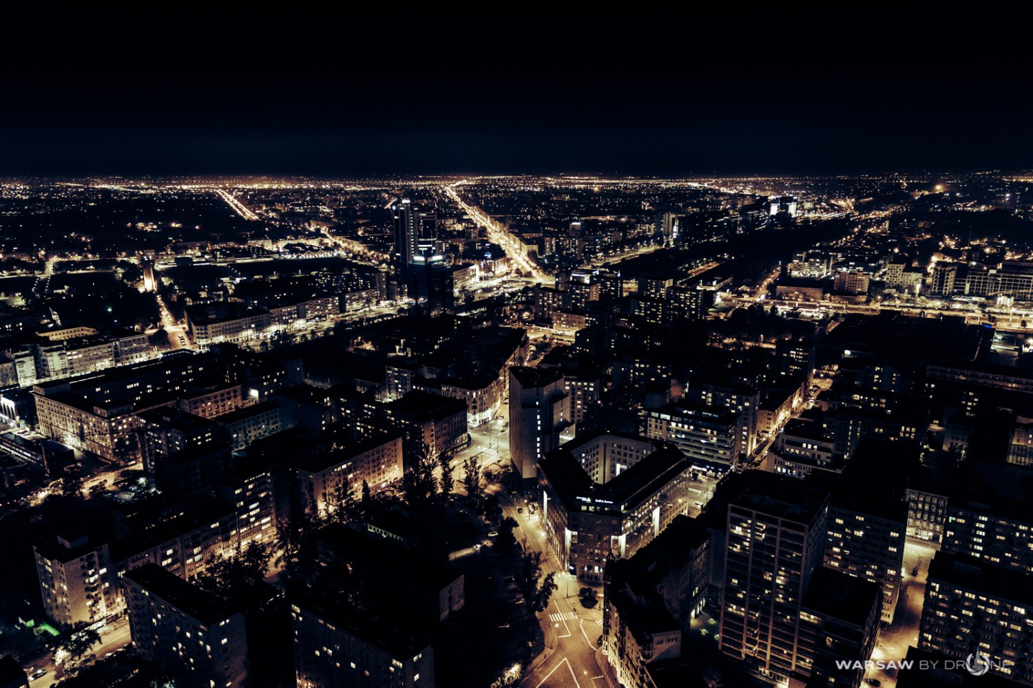 Warsaw by drone