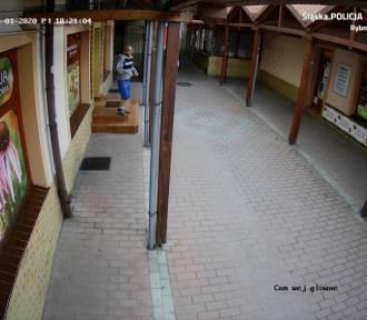 Zerwał flagę Polski w pasażu przy Kościelnej w Rybniku. Szuka go policja ZDJĘCIA Z MONITORINGU