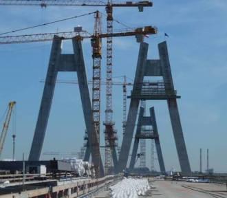Obwodnica Krakowa i nowy most rosną w oczach [ZDJĘCIA]