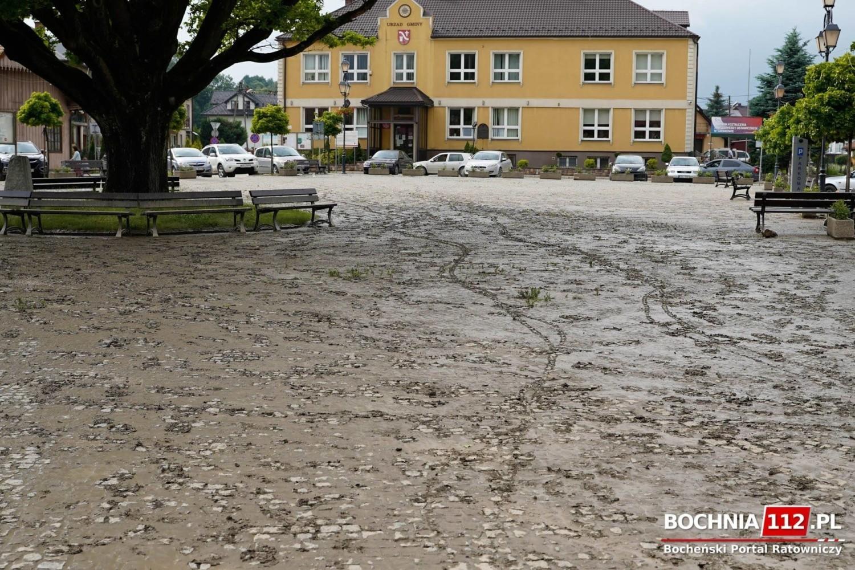 Centrum Łapanowa po powodzi