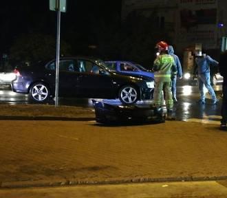 Zderzenie dwóch samochodów w Aleksandrowie Kujawskim [zdjęcia]