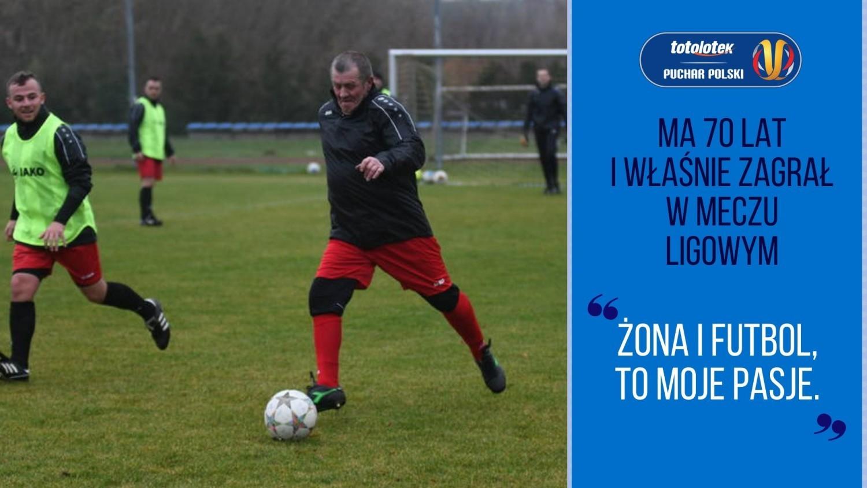 Regionalny Puchar Polski: Ma 70 lat i właśnie zagrał w meczu ligowym | Flesz Sportowy24