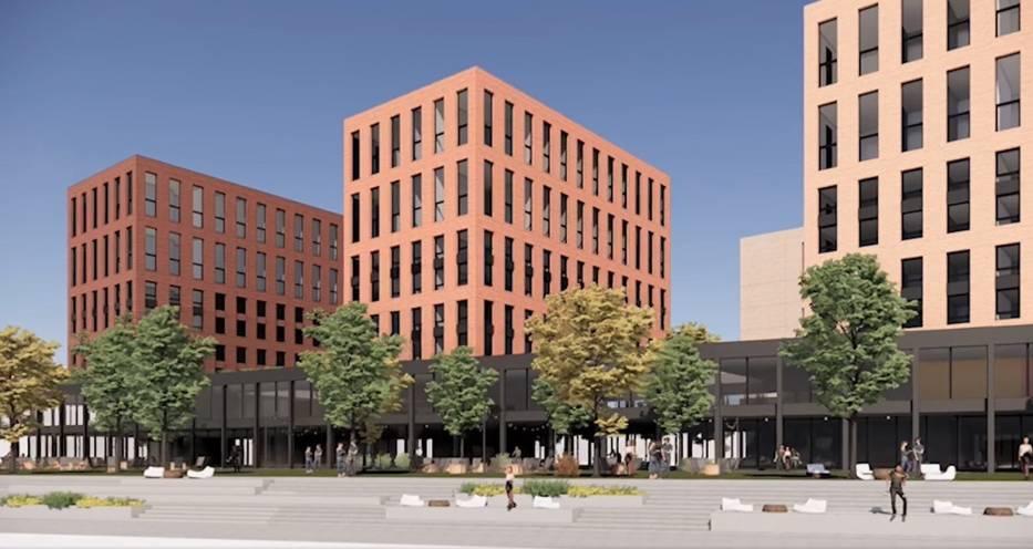 Kompleks planowany przy ulicy Grundmanna w Katowicach
