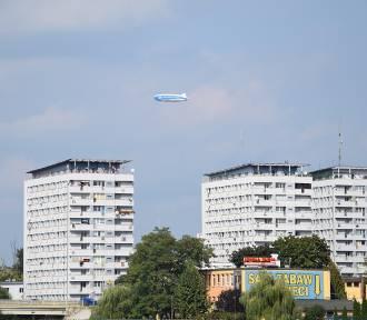 Zeppelin nad Opolem - leci z Górnego Śląska do Wrocławia