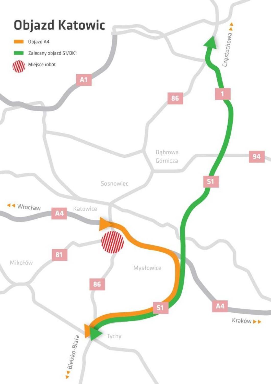 Przebudowa węzła Giszowiec, czyli skrzyżowania dróg DK86 oraz DK81