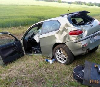 Wypadek na trasie Okonek - Lotyń
