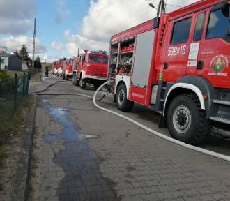 Pożar poddasza domu mieszkalnego w Mikołajkach Pomorskich