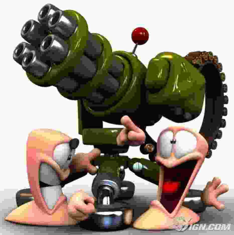 """Materiał promocyjny dla gry """"Worms 4"""""""