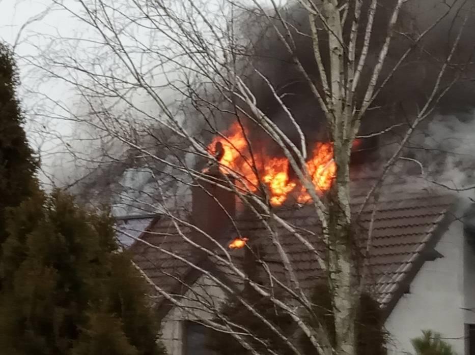 W czwartek koło godziny 9 przy ulicy Radosnej w Czerniewicach wybuchł pożar