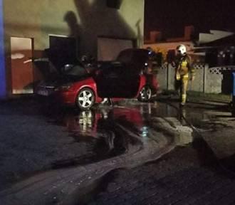 Pożar samochodu w Kleczewie