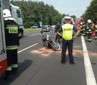 Wypadek motocyklisty w Grońsku [ZDJĘCIA]