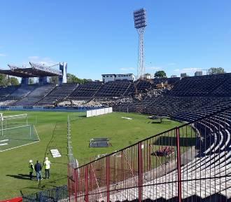 Tak powstawały trybuny na stadionie Pogoni Szczecin. Zobacz zdjęcia z budowy