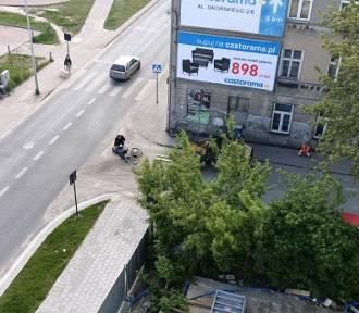 Operator maszyny budowlanej potrącił rowerzystkę w Łodzi