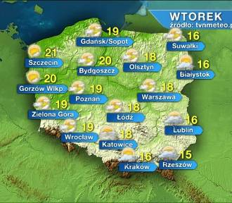 Pogoda na wtorek, 2 czerwca