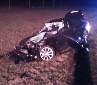 Turkowo: Wypadek BMW na A2 [ZDJĘCIA]