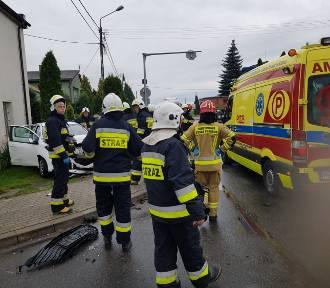 Wypadek w Jankowie Pierwszym pod Kaliszem. Sześć osób w szpitalu. ZDJĘCIA