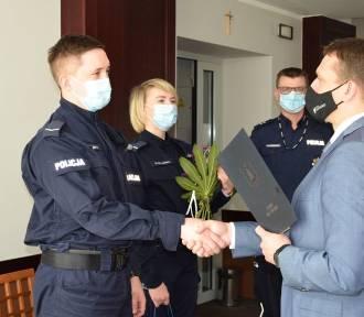 Policjanci z Kosakowa wyróżnieni przez wójta Marcina Majka