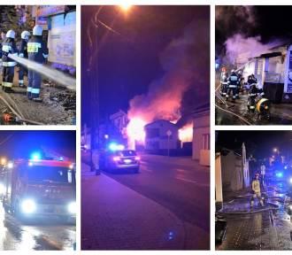 Pożar sklepu motoryzacyjnego - to było podpalenie. Straty to około 150 tysięcy złotych [zdjęcia,