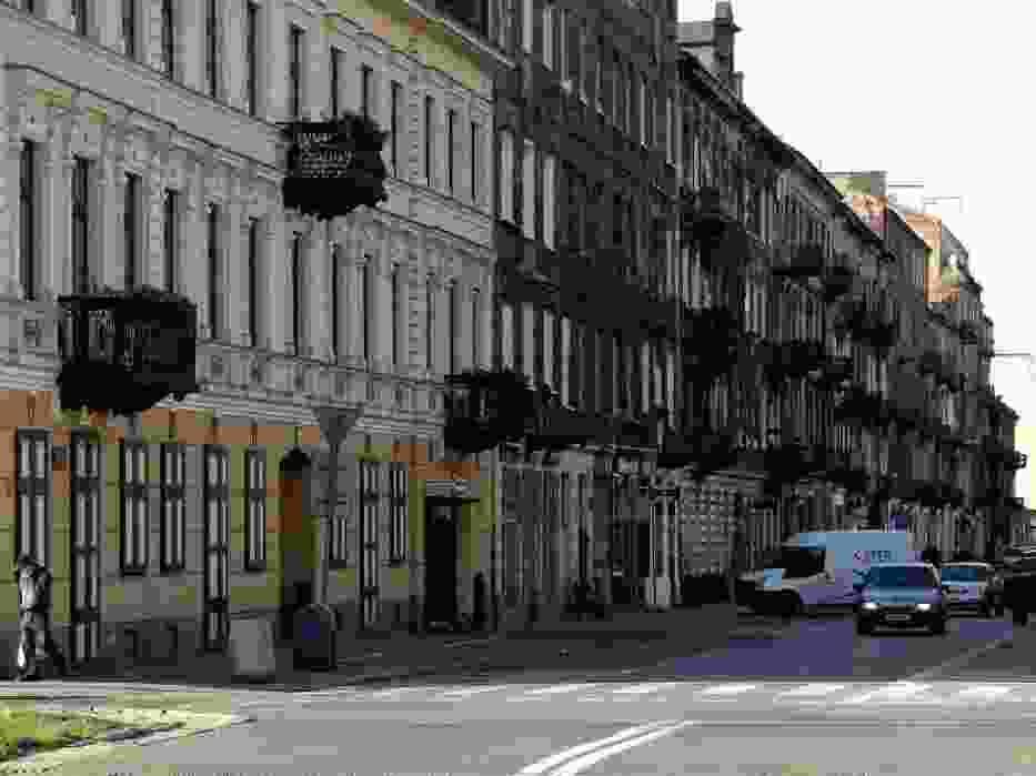 Zdjęcia dzielnicy Praga Północ, między ulicami Brzeską i Targową, zostały wykonane w październiku 2008 r