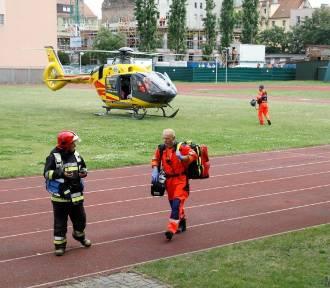 Śmigłowiec LPR lądował na targowisku w Opolu. Co się stało? [ZDJĘCIA]