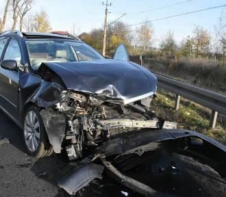 Wypadek na drodze Legnica - Złotoryja
