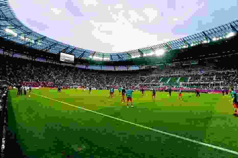 Mecz otwarcia był na stadionie transmitowany