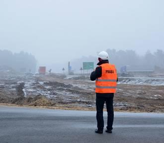 Trwa budowa połączenia S17 z mostem w Puławach (ZDJĘCIA, WIDEO)