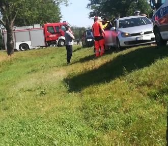 Wypadek na krajowej 19 koło Denisek
