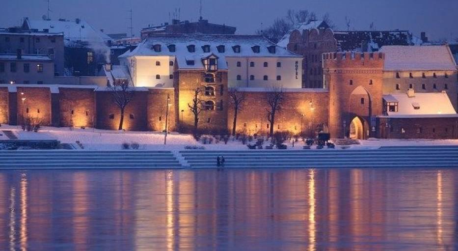 Toruń zimą