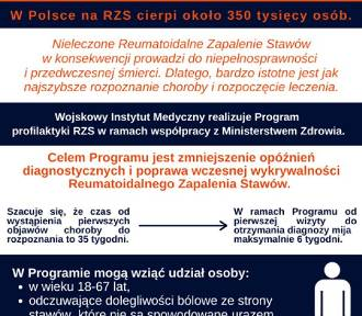 Program wczesnego wykrywania RZS dla tomaszowian
