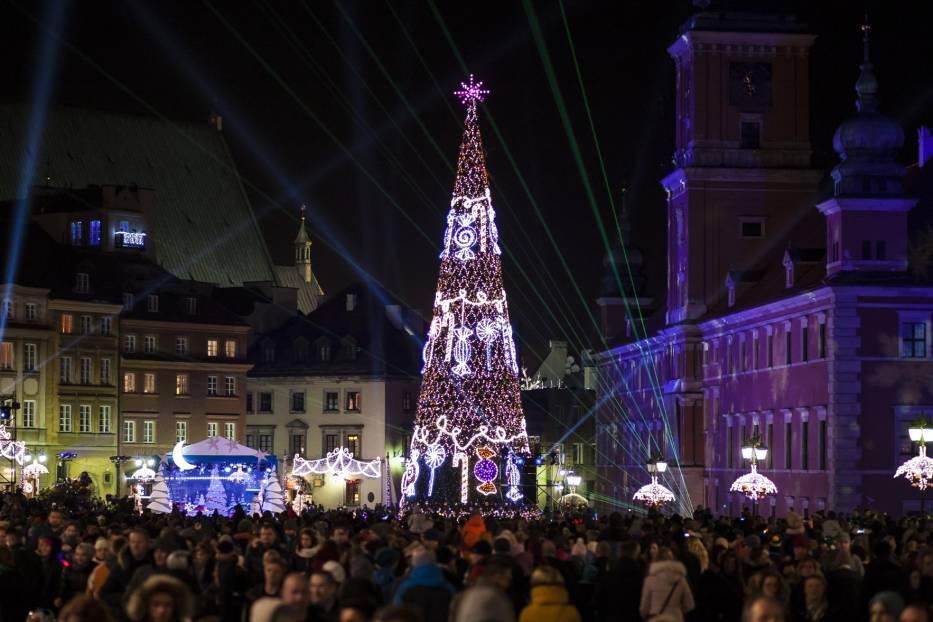 Swiateczna Iluminacja Warszawa 2017 Naszemiastopl