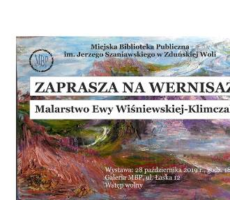 Wystawa prac Ewy Wiśniewskiej Klimczak od poniedziałku w bibliotece[FOTO i plakaty]
