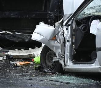 Śmiertelny wypadek w Wiągu pod Świeciem. Zobacz zdjęcia