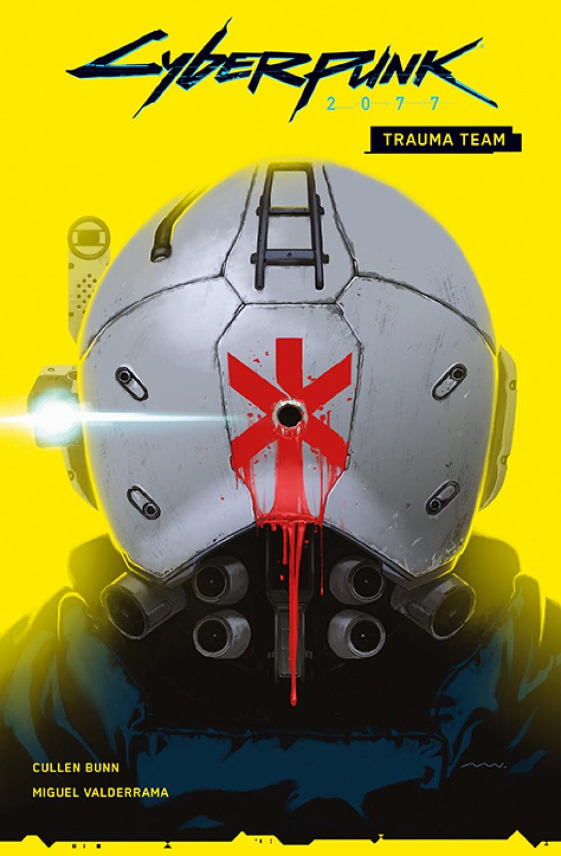 """Cyberpunk 2077: Trauma Team, tom 1Scenariusz: Cullen BunnRysunki: Miguel ValderramaPrzekład: Zofia SawickaOprawa: miękka ze skrzydełkamiObjętość: 96 stronFormat: 167x255 Cena: 39,99ISBN: 978-83-281-5887-0Język oryginału: angielski Seria: CyberpunkKategoria: komiks amerykańskiTematyka: science fiction""""Trauma Team"""" to pierwszy z serii komiksów powiązanych z długo oczekiwaną grą komputerową """"Cyberpunk 2077"""", która pobiła wszelkie rekordy sprzedaży i wzbudziła wiele emocji wśród graczy"""