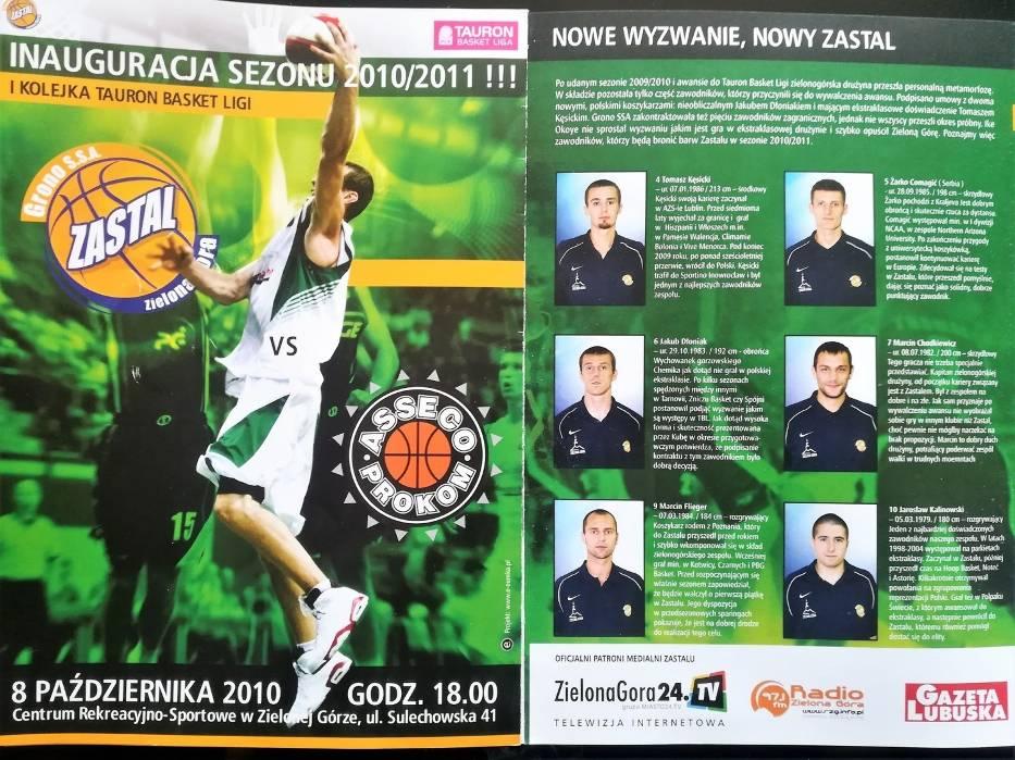 Program z pierwszego meczu w hali CRS (2010)