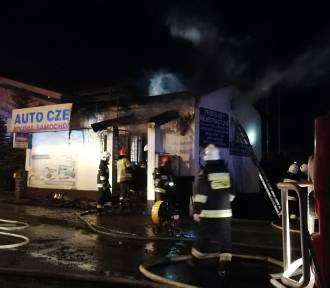 Pożar na ul. Kościuszki w Lubrańcu [zdjęcia]