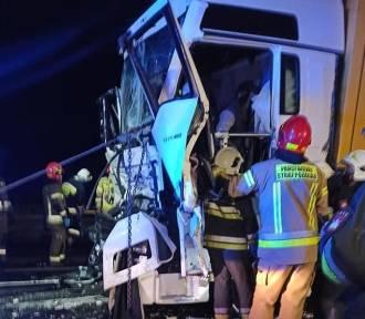Wypadek na DK 91 w Koziegłowach. Trasa w kierunku Katowic częściowo nieprzejezdna