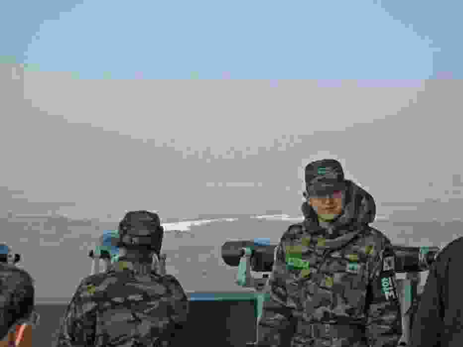 Południowokoreańscy żołnierze w punkcie obserwacyjnym na granicy z Koreą Północną