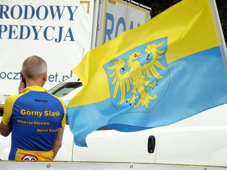 Wśród kibiców nie brakowało tych, którzy identyfikują się ze śląską narodowością