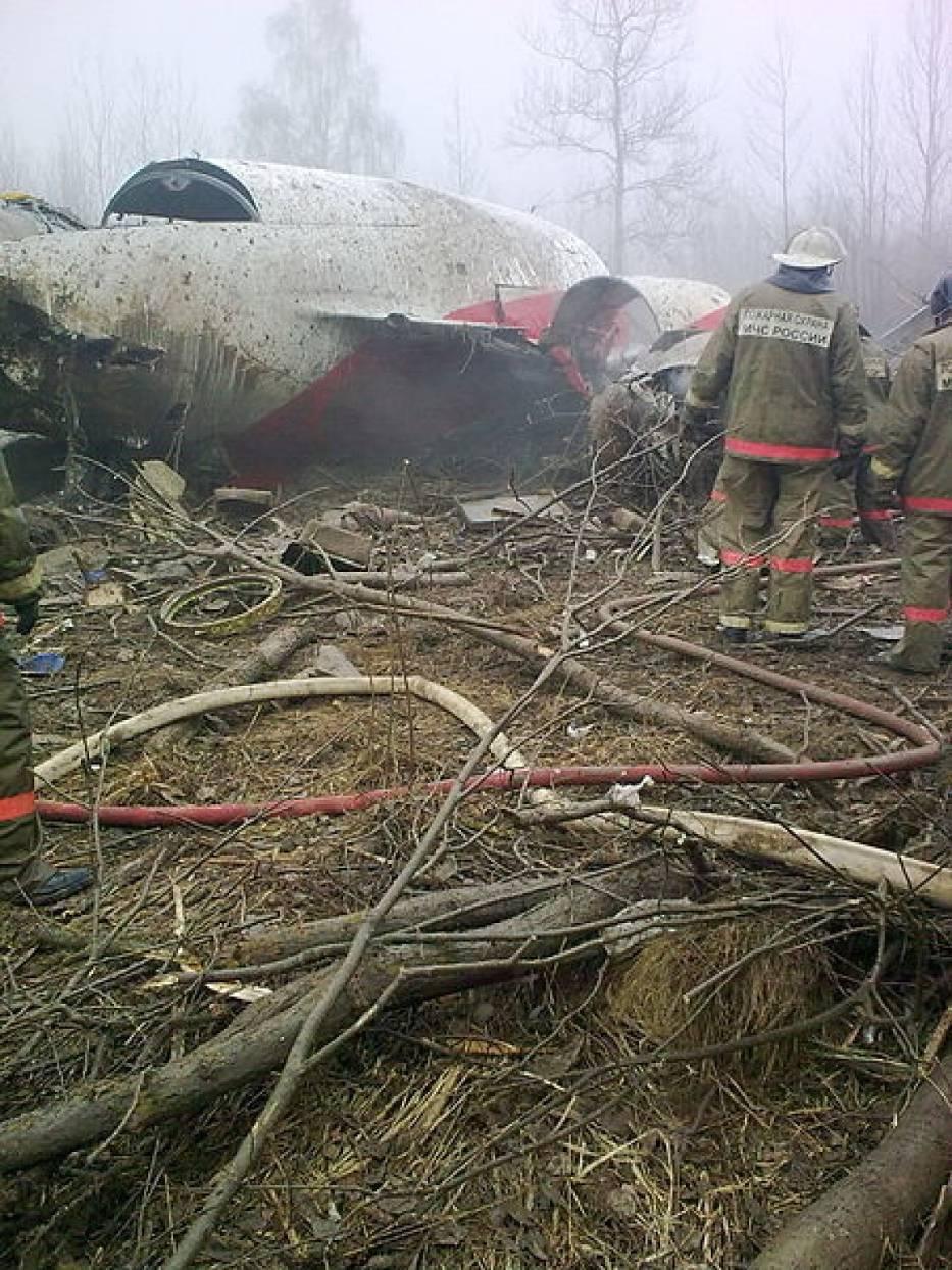 Fragment Tupolewa po katastrofie w Smoleńsku